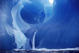 Water running off a Blue Iceberg, Southern Ocean