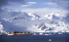 Abandoned research station in Paradise Bay, Antarctic Peninsula