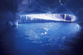 Inside an iceberg, Antarctic Peninsula