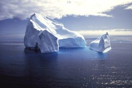 Lone iceberg drifts through the Southern Ocean